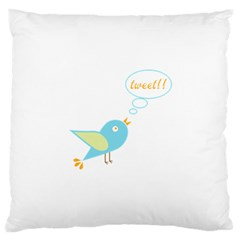 Cute Tweet Large Cushion Case (two Sides) by linceazul
