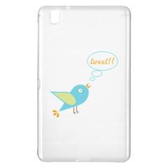 Cute Tweet Samsung Galaxy Tab Pro 8 4 Hardshell Case by linceazul