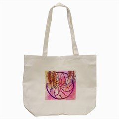 Watercolor Cute Dreamcatcher With Feathers Background Tote Bag (cream) by TastefulDesigns