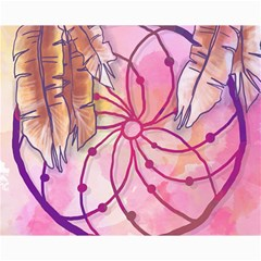 Watercolor Cute Dreamcatcher With Feathers Background Canvas 8  X 10  by TastefulDesigns
