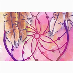 Watercolor Cute Dreamcatcher With Feathers Background Canvas 20  X 30   by TastefulDesigns
