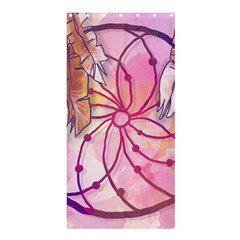 Watercolor Cute Dreamcatcher With Feathers Background Shower Curtain 36  X 72  (stall)  by TastefulDesigns