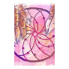 Watercolor Cute Dreamcatcher With Feathers Background Shower Curtain 48  X 72  (small)  by TastefulDesigns