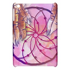 Watercolor Cute Dreamcatcher With Feathers Background Apple Ipad Mini Hardshell Case by TastefulDesigns