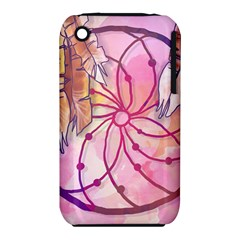 Watercolor Cute Dreamcatcher With Feathers Background Iphone 3s/3gs by TastefulDesigns