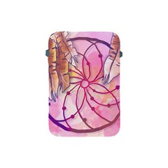 Watercolor Cute Dreamcatcher With Feathers Background Apple Ipad Mini Protective Soft Cases by TastefulDesigns