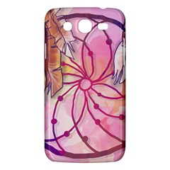 Watercolor Cute Dreamcatcher With Feathers Background Samsung Galaxy Mega 5 8 I9152 Hardshell Case  by TastefulDesigns