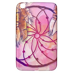 Watercolor Cute Dreamcatcher With Feathers Background Samsung Galaxy Tab 3 (8 ) T3100 Hardshell Case  by TastefulDesigns