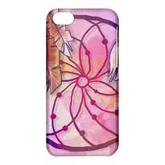 Watercolor Cute Dreamcatcher With Feathers Background Apple Iphone 5c Hardshell Case by TastefulDesigns