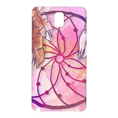 Watercolor Cute Dreamcatcher With Feathers Background Samsung Galaxy Note 3 N9005 Hardshell Back Case by TastefulDesigns