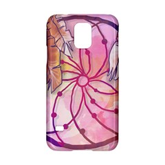 Watercolor Cute Dreamcatcher With Feathers Background Samsung Galaxy S5 Hardshell Case  by TastefulDesigns