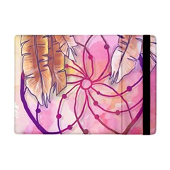 Watercolor Cute Dreamcatcher With Feathers Background Ipad Mini 2 Flip Cases by TastefulDesigns