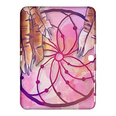 Watercolor Cute Dreamcatcher With Feathers Background Samsung Galaxy Tab 4 (10 1 ) Hardshell Case  by TastefulDesigns