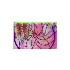 Watercolor Cute Dreamcatcher With Feathers Background Cosmetic Bag (xs) by TastefulDesigns