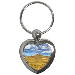 Patagonian Landscape Scene, Argentina Key Chains (heart)  by dflcprints