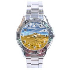 Patagonian Landscape Scene, Argentina Stainless Steel Analogue Watch by dflcprints