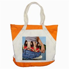 Social Media Accent Tote Bag by RakeClag