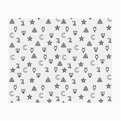 Witchcraft Symbols  Small Glasses Cloth (2 Side) by Valentinaart
