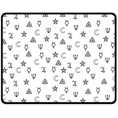 Witchcraft Symbols  Fleece Blanket (medium)  by Valentinaart