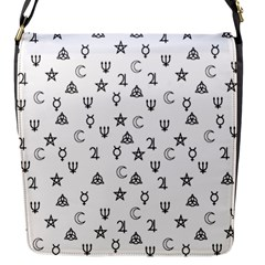 Witchcraft Symbols  Flap Messenger Bag (s) by Valentinaart