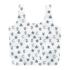 Witchcraft Symbols  Full Print Recycle Bags (l)  by Valentinaart