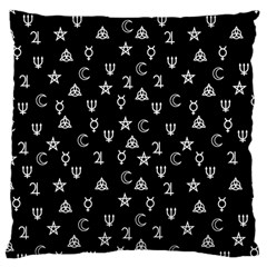 Witchcraft Symbols  Large Cushion Case (two Sides) by Valentinaart