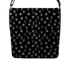 Witchcraft Symbols  Flap Messenger Bag (l)  by Valentinaart