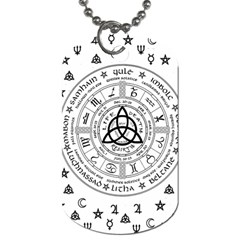 Witchcraft Symbols  Dog Tag (one Side) by Valentinaart