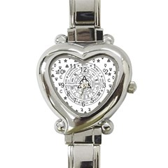 Witchcraft Symbols  Heart Italian Charm Watch by Valentinaart