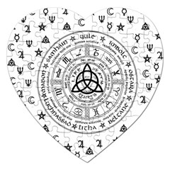 Witchcraft Symbols  Jigsaw Puzzle (heart) by Valentinaart