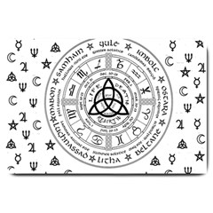 Witchcraft Symbols  Large Doormat  by Valentinaart