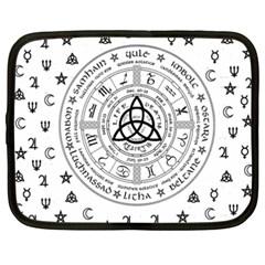 Witchcraft Symbols  Netbook Case (xxl)  by Valentinaart