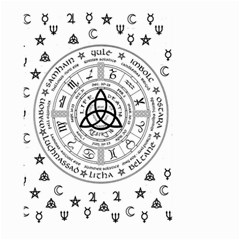 Witchcraft Symbols  Large Garden Flag (two Sides) by Valentinaart