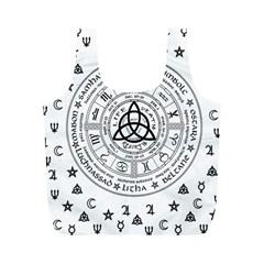 Witchcraft Symbols  Full Print Recycle Bags (m)  by Valentinaart