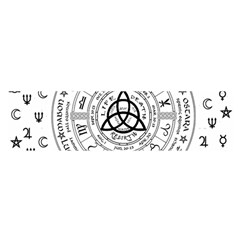 Witchcraft Symbols  Satin Scarf (oblong) by Valentinaart