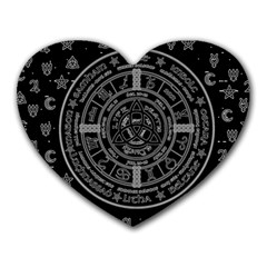 Witchcraft Symbols  Heart Mousepads by Valentinaart