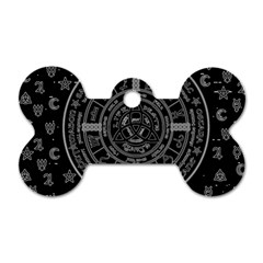 Witchcraft Symbols  Dog Tag Bone (two Sides) by Valentinaart