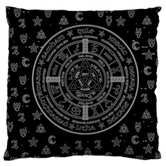 Witchcraft Symbols  Large Cushion Case (one Side) by Valentinaart