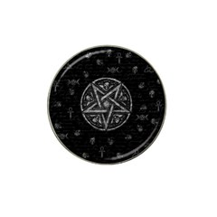 Witchcraft Symbols  Hat Clip Ball Marker (4 Pack) by Valentinaart