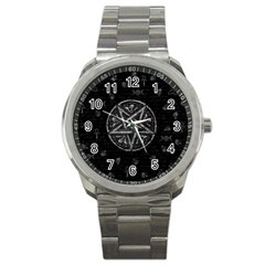 Witchcraft Symbols  Sport Metal Watch by Valentinaart