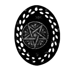 Witchcraft Symbols  Ornament (oval Filigree) by Valentinaart