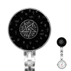 Witchcraft Symbols  Stainless Steel Nurses Watch by Valentinaart