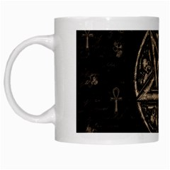 Witchcraft Symbols  White Mugs by Valentinaart