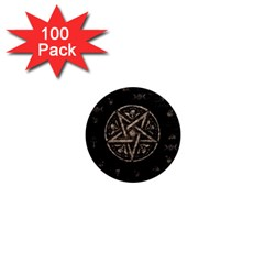 Witchcraft Symbols  1  Mini Magnets (100 Pack)  by Valentinaart