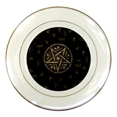 Witchcraft Symbols  Porcelain Plates by Valentinaart