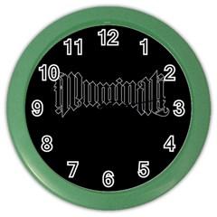 Illuminati Color Wall Clocks by Valentinaart