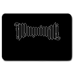 Illuminati Large Doormat  by Valentinaart