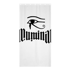 Illuminati Shower Curtain 36  X 72  (stall)  by Valentinaart