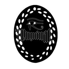 Illuminati Ornament (oval Filigree) by Valentinaart