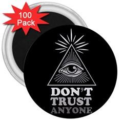 Illuminati 3  Magnets (100 Pack) by Valentinaart
